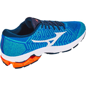 Mizuno Waveknit R2 Shoes Herr nautical blue/white/red orange